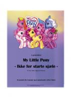 Front page for My Little Pony – Ikke for starte sjæle