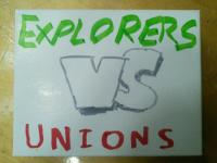 Front page for Explorers vs. Unions