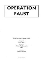 Forside til Operation Faust